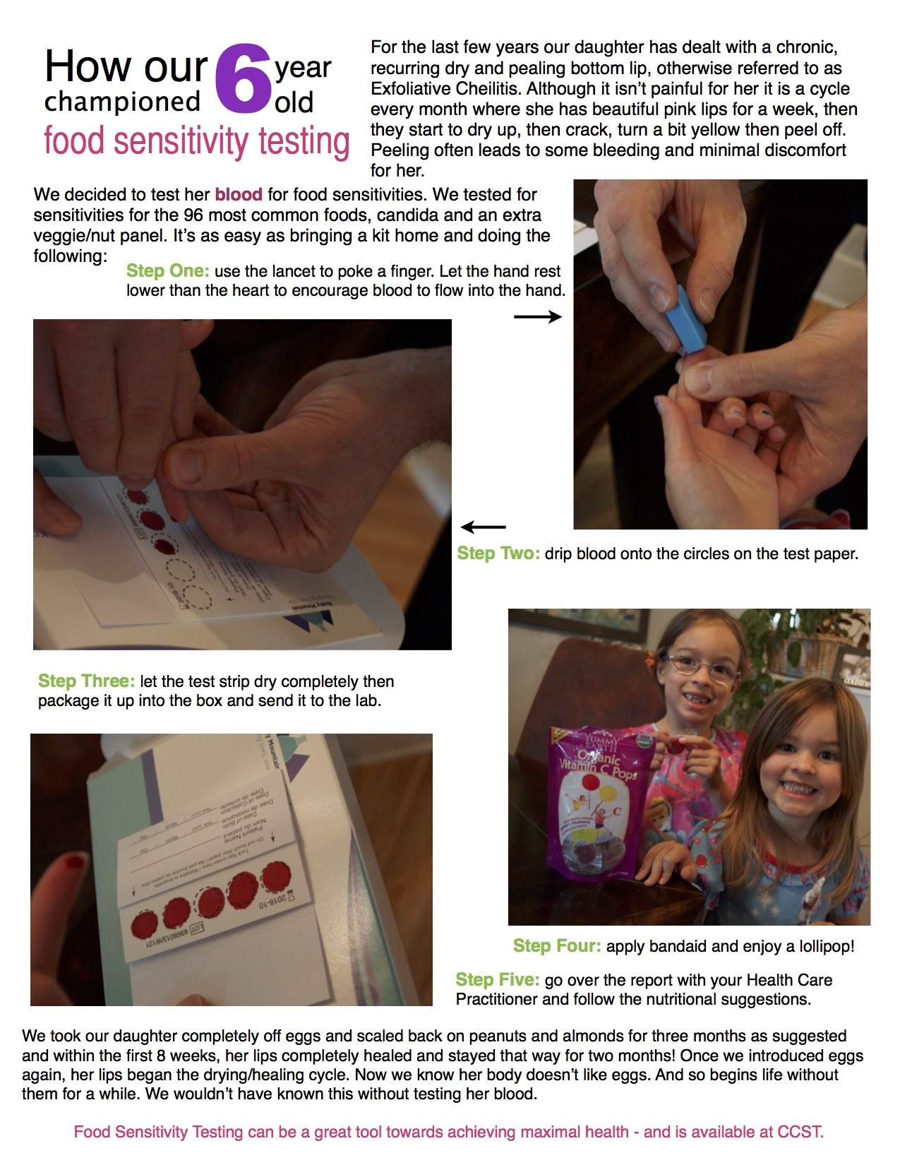 How our 6 year old championed food sensitivity testing