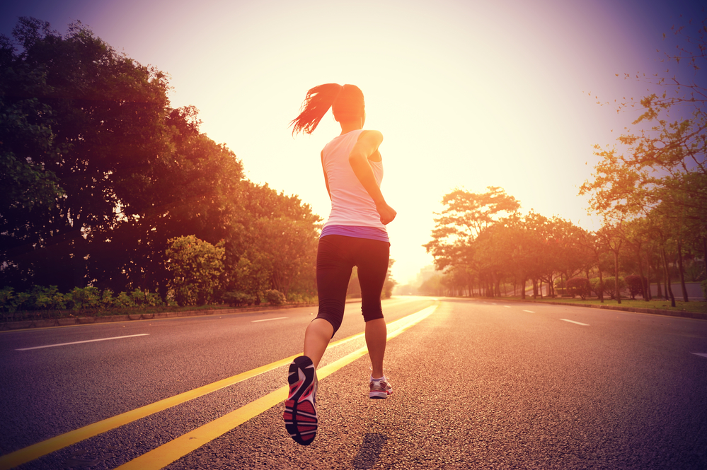 Run Time | picture of woman running on the road